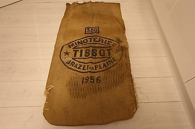 Large Vintage French Printed Hessian Sack - Upholstery Project???