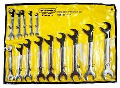 """14Pc Angled Wrench Set 3/8"""" - 1-1/4""""  Sae *new*"""