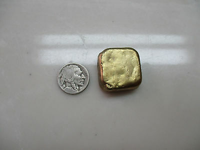 62.0 Grams Gold Recovery Gold Bar Melted Drop Scrap Plated Computer Pins CPU