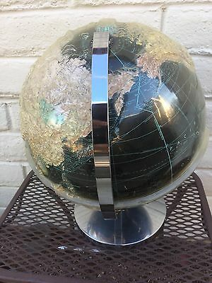 Vintage CONTOUR RELIEF TRU VUE Weber Costello Globe with embossed plastic cover