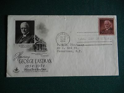 1954 3c George Eastman FDC # 1062 Art Craft Cachet Addressed