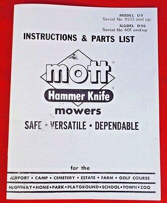 WOODS BELLY MOWER 59CL-4 59CLF-4 Operators manual ** Fits