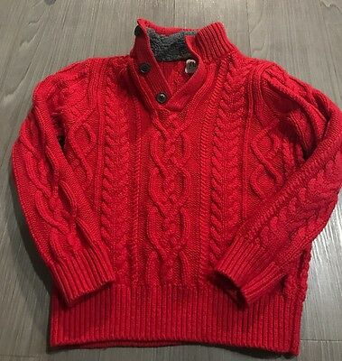 Gap Kids Children's Boys Cable Knit Sweater Red Sz M 8
