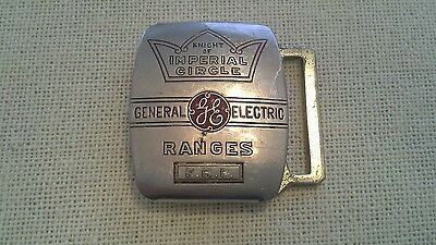 Vtg General Electric Ranges Knight Of Imperial Circle Verithin Belt Buckle
