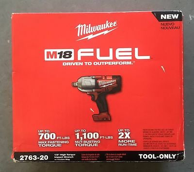 """2763-20 M18 FUEL 1/2"""" High Torque Impact Wrench w/ Hog Ring Milwaukee New In Box"""