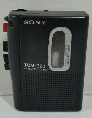 Sony Cassette-Corder TCM-323  Voice Recorder Player   TESTED