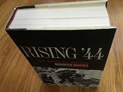 Rising '44 The Battle For Warsaw Hardcover Book-Norman Davies-Signed-1St Edition