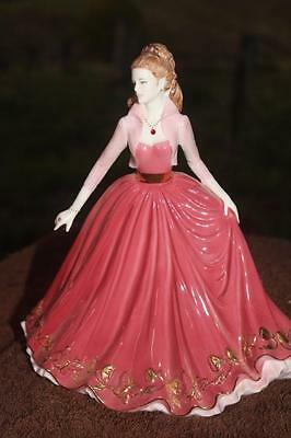 SALE SALE!! save!!!! Coalport figurine - RUBY Gem Collection, wears real ruby