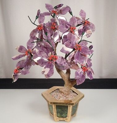 Chinese Jade and Amethyst Tree