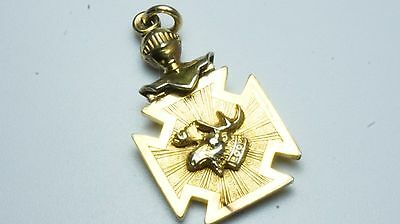 Loyal Order of Mousse Antique LOOM Skull Cross Fob fraternal Chain Fob/pendant