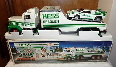 1991 Hess Toy Truck And Racer With Original Box. (Used)