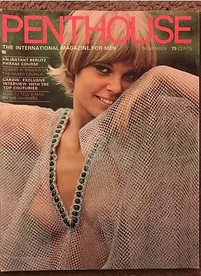 Rare Vintage Penthouse Magazine November 1969 3rd Issue Very Good Condition