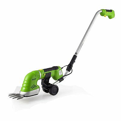 SereneLife Cordless Pole Grass Cutter Shears, Electric Hedge Shrubber Trimmer,