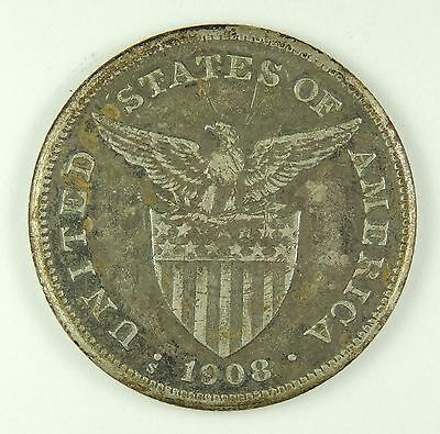 1908-S One Peso (Silver) - Philippines     (170417)