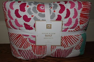 NWT Pottery Barn PB Teen Ocean Bloom twin quilt  *2 available*