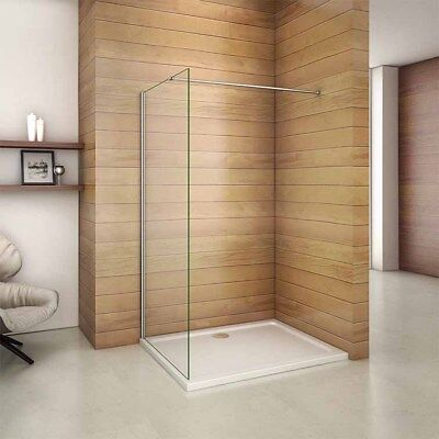 1850 1950 2000 Wet Room Shower Enclosure Glass Screen Panel Cubicle Support Bar