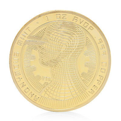 Golden Commemorative Coin BTC Art Collection For Souvenir Bitcoin Coin Gift Hot