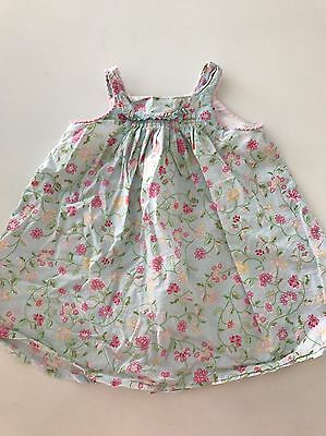 BEBE by Minihaha Baby Girl Dress Size 00 Blue Floral