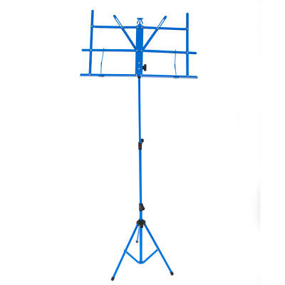 New Metal Adjustable Folding Sheet Music Stand Mount Tripod Blue Color with Bag