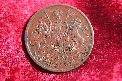 British East India Company 1/4 Anna 1835 High Grade Old Coin I