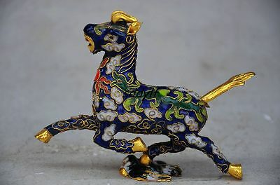Exquisite Chinese Cloisonne Handmade Horse Statue