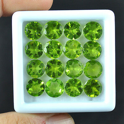 Calibrated 28.3Ct Finest Parrot Green Untreated Rare Natural 16 Pcs Peridots Lot