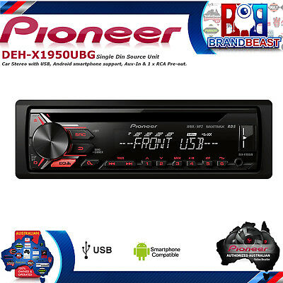 Pioneer Deh-x1950ubg Car Stereo With Rds Tuner, Cd, Usb And Aux-in Dehx1950ubg