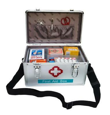 New Family Office Deluxe Lockable Medicine Storage Box First Aid Carry Case B016