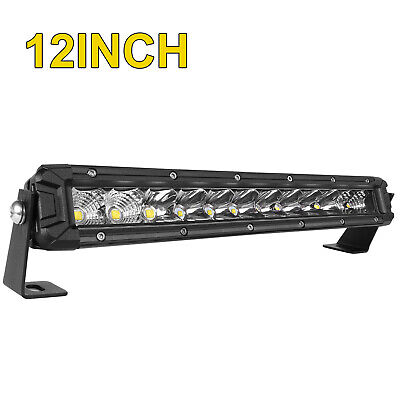 10D QUAD-ROW 42INCH 3360W LED LIGHT BAR COMBO OFFROAD 4WD TRUCK ATV White& Amber