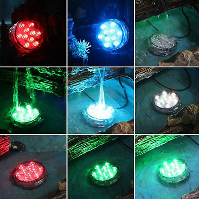 Swimming Pool Remote Control RGB LED Light Colorful Underwater Lamp Waterproof