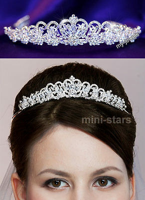 Heart Bridal Wedding Tiara Prom Bridesmaid Accessories Sparkling Crystal AT1057