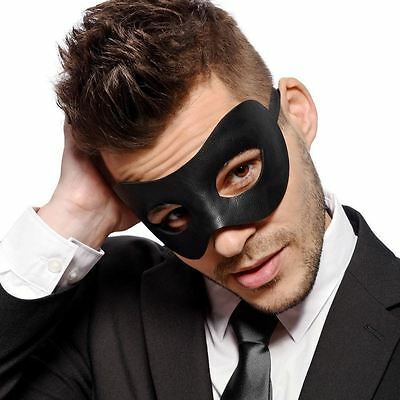 Fancy Goods Classic Masquerade Faux Leather Party Mens Unisex Venetian Mask,