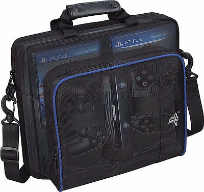 For Sony PlayStation4 PS4 Black Multifunctional Travel Carry Case Carrying Bag