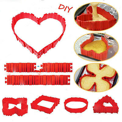 4pcs Silicone Cake Mold Bake Snakes Magic DIY Cake Shape Nonstick Tray CN SELLER