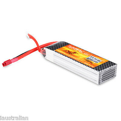 3S 11.1V 4000mAh 25C LiPo Battery Deans for RC Helicopter Airplane Car Hobby AU