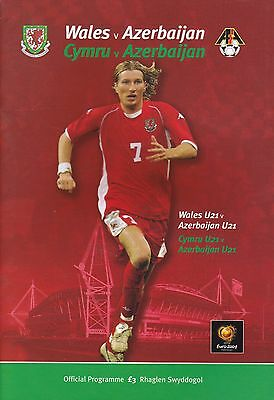 WALES v AZERBAIJAN ~ 29 MARCH 2003 ~ EURO QUALIFIER ~ MINT CONDITION