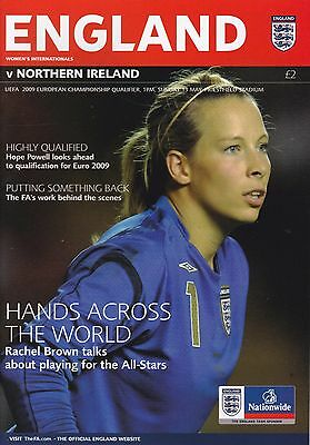 ENGLAND v NORTHERN IRELAND WOMEN'S INTERNATIONAL ~EURO QUALIFIER ~ 13 MAY 2009
