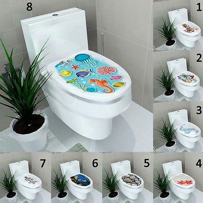 Toilet Seat Sticker Bathroom Lid Seat Cover Decal Vinyl Art Modern Home Decor