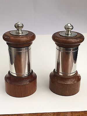 Christofle Silver Pair Of Matching Pepper Mills
