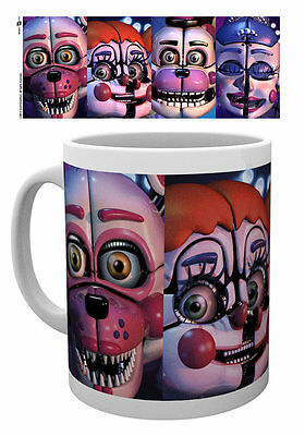 Five Nights At Freddy's - Ceramic Coffee Mug /cup (Sister Location Faces)