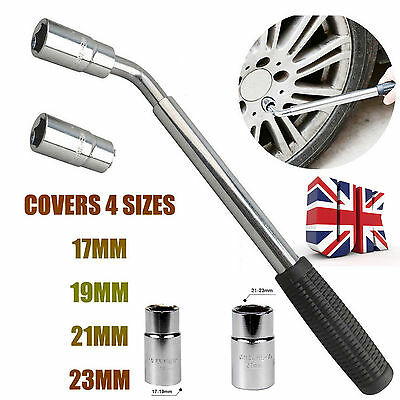 Extendable Wheel Wrench Nut Bolt Car Van Bar Brace Socket Tyre 17 19 21 23Mm Uk