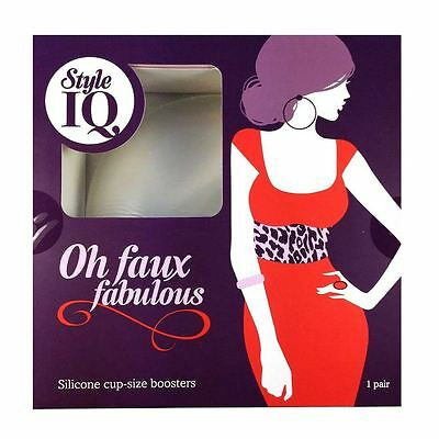 Style IQ Oh Faux Fabulous Pair Silicone Gel Bra Cup Size Booster Breast Enhancer
