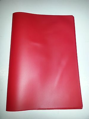 A5 Red Document Holder Holder With Card Pocket