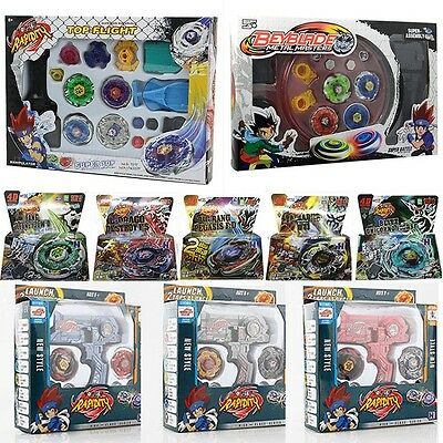 Beyblade Fusion Top Metal Fight Master 4D  Rapidity Launcher Set Child Kid Toys