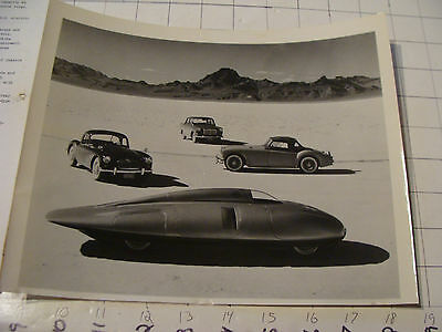 vintage Original auto dealership Photo: MG 1950's 4 cars in one w Spec sheet