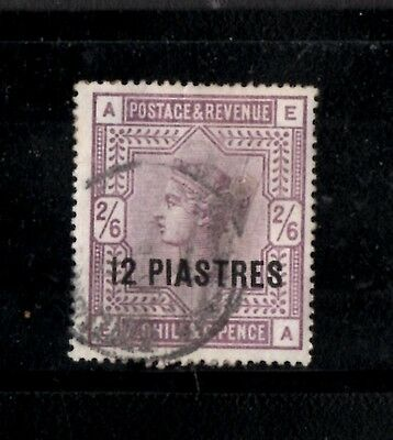 British Levant 1885-88 12pi on 2/6d Lilac  SG.3a  Used