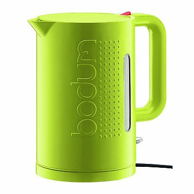 Bodum Bistro Electric Water Kettle Boil Jug Double Wall Automatic, 1.5L, Green
