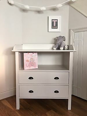 Hand Painted Solid Wood Baby Changing Unit Light Grey