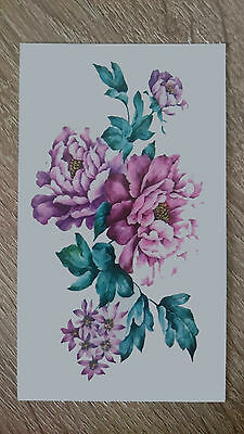 10x6cm Sheet-High-Quality-Fake-Tatto-Flower-Waterproof-Temporary