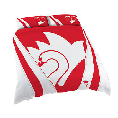 Sydney Swans 2017 AFL Quilt Cover Set Single Double Queen King Pillowcase BNWT